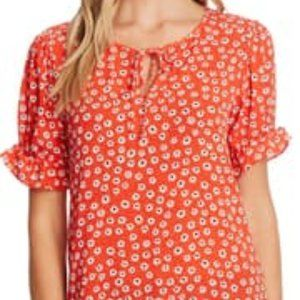 CeCe Daisy Melody Puff Sleeve Blouse
